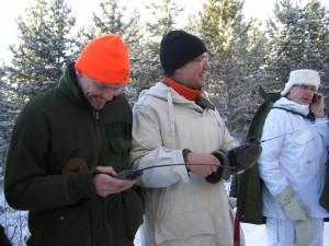 harjakt okt 2012 Martin, Jörgen och Jens