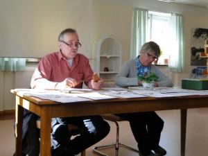 Mötesordförande Ivan Myhr och sekreterare  Ingrid Fredriksson