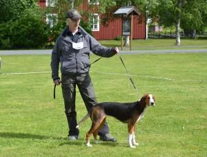 Fin. Ulvfsveåsens Ixxa-11 och handler Göran Blixt (ägare Per Roos)