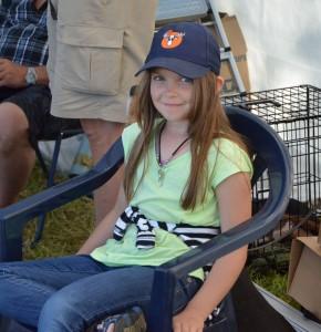 Isabelle Pellving, klubbens  yngsta lottförsäljerska (Foto Leif Aronsson)