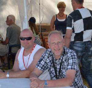 Lars Olofsson och Mats Eriksson, i bakgrunden Lars O Törnkvist och Anki Hansson Eriksson (Foto Leif Aronsson)