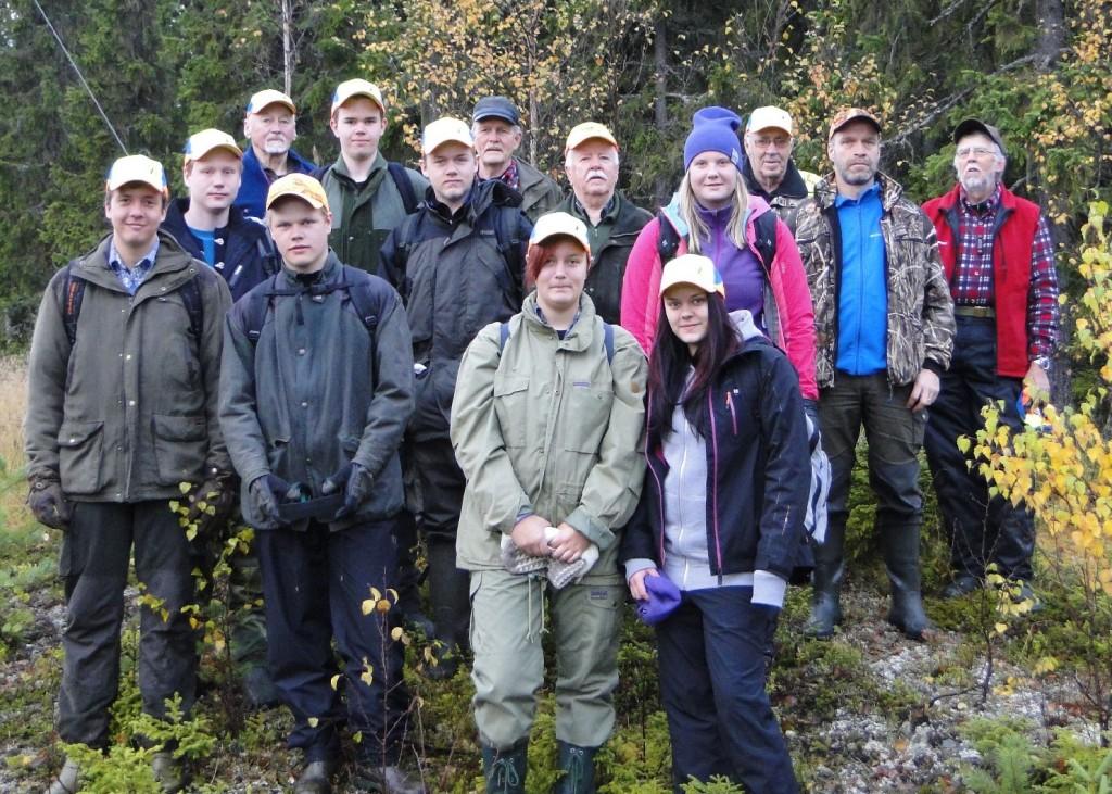 Fältbygget - HareBra-gänget med andra gruppen ungdomar från Wargentinskolan, Östersund