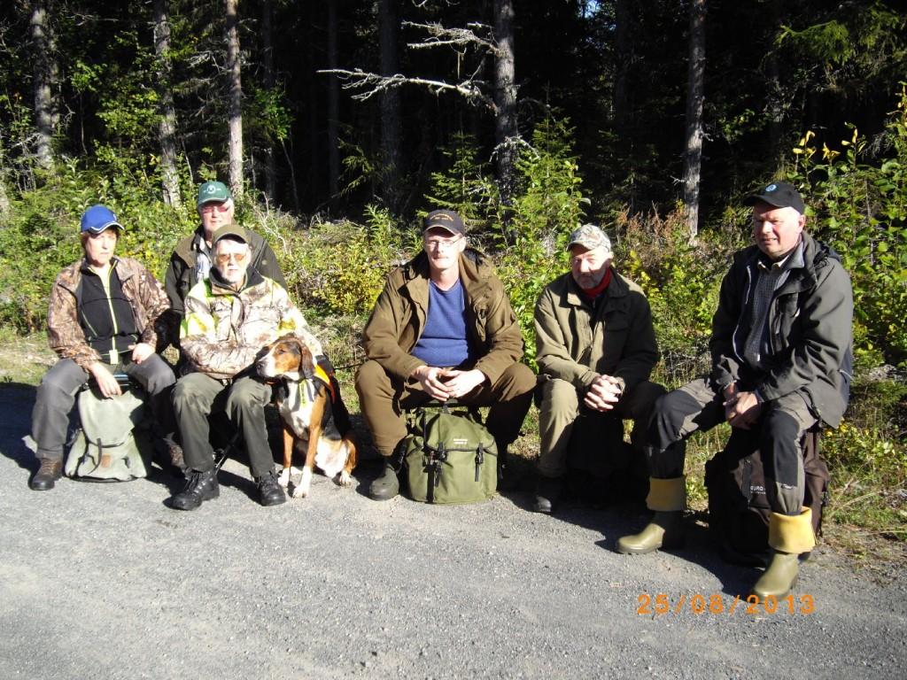 Norderåsen Kerstin och Rune Jönsson med ham. Abbe, Ulf Hagen, Anders Klockerud, Ivan Myhr och Jan Kardin