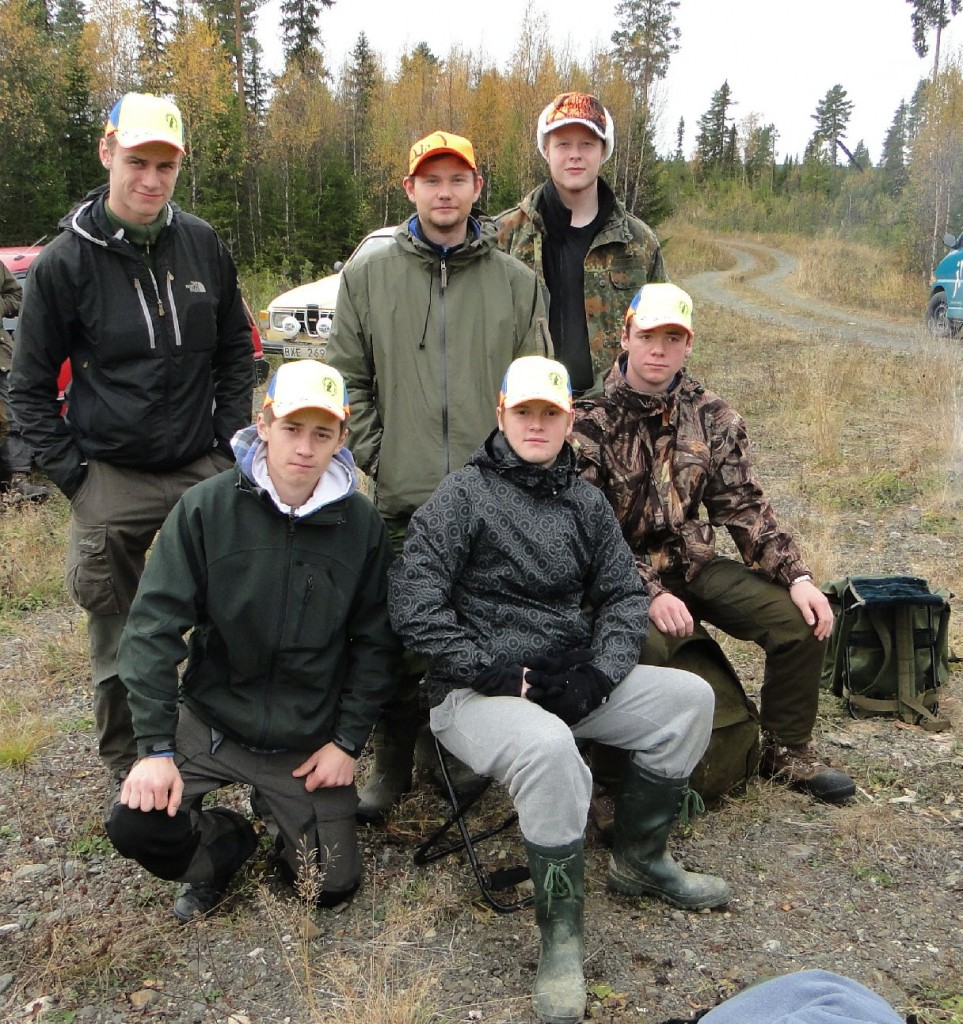 Stående: Per Qvarngård, Olle Granberg, Pontus Grönlund Sittande: Hampus Anselius, Jimmy Bergh, Erik Engelin