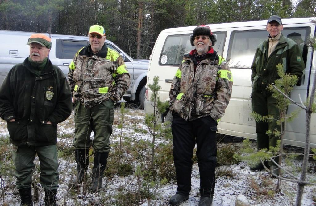 Uno Johansson, Kjell Hemmingsson, Rune Jönsson och Torbjörn Johansson
