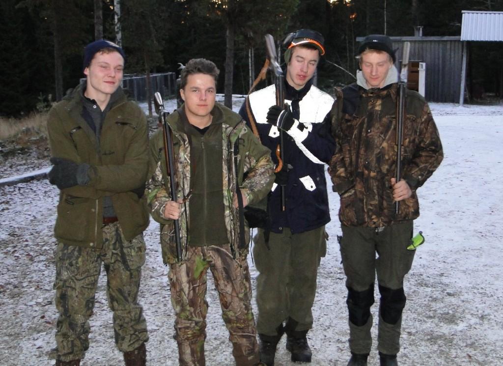 Tomas Barry, Pontus Lövgren, Sebastian Jonasson och Jimmie Forssell