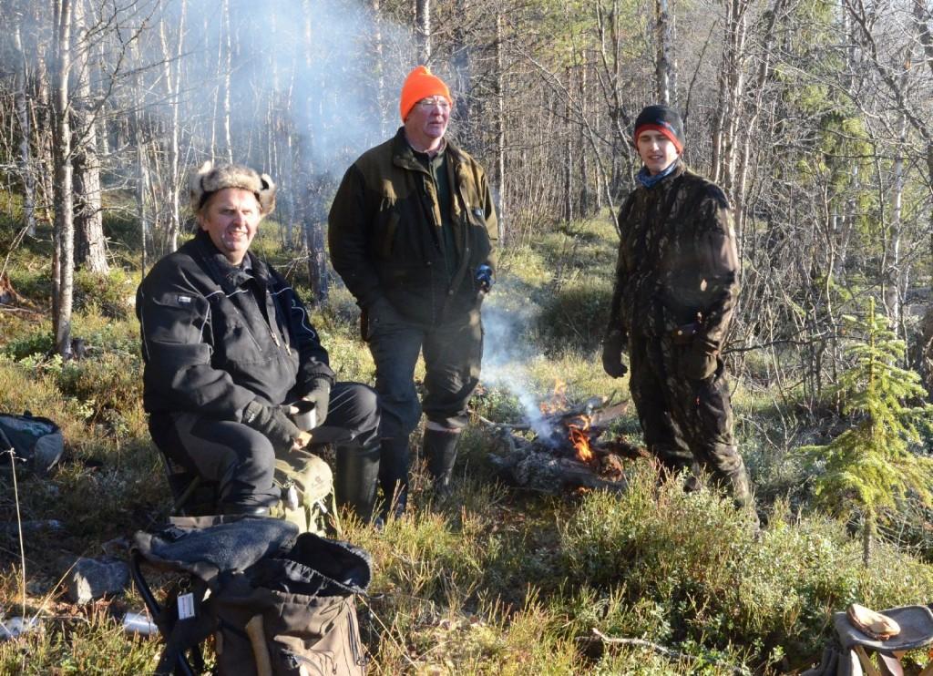 Sture Nilsson, vägvisare NN, Anton Nilsson (Foto Leif Aronsson)