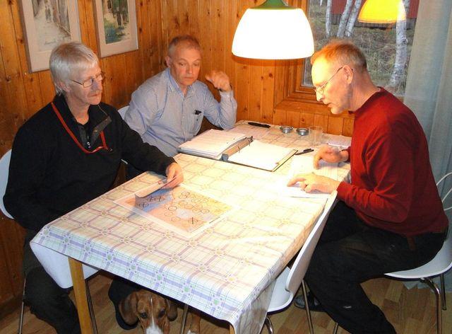 Göran Blixt, Jörgen Widegren och Mats Eriksson