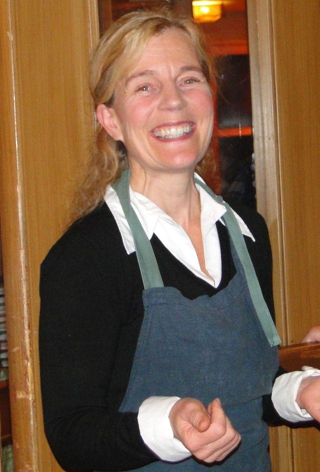 Värdinnan Anna Romare Blyckert (Foto Rolf Pellving)
