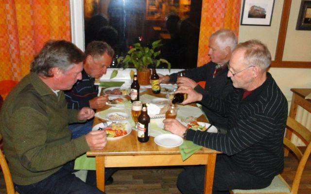 Jan Swartström, John-Fredrik Larsson, Lars O Törnkvist och Mats Eriksson (Foto Rolf Pellving)