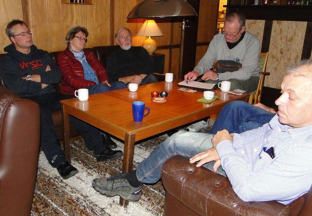 Leif Aronsson, Gunilla Karsbo, Ernst Bjureflo, Jan-Erik Hellman och Jörgen Widegren (Foto Rolf Pellving)