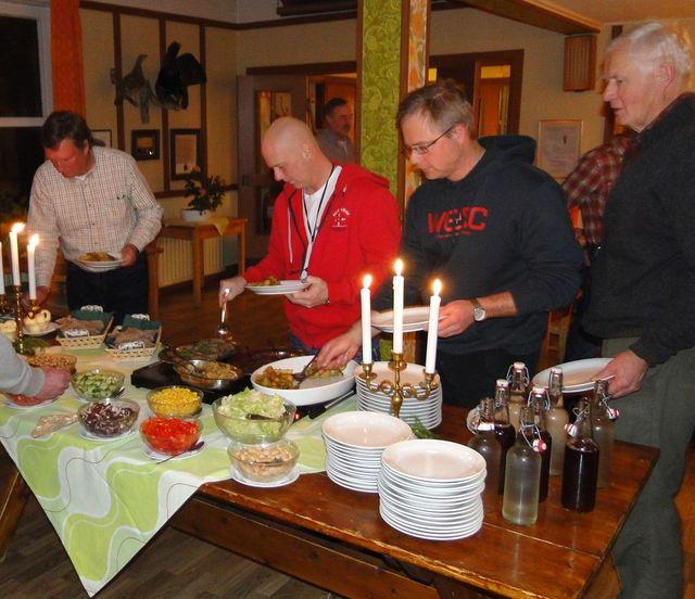 Jan Swartström, Sven-Olof Nilsson, Leif Aronsson och Lars O Törnkvist (Foto Rolf Pellving)