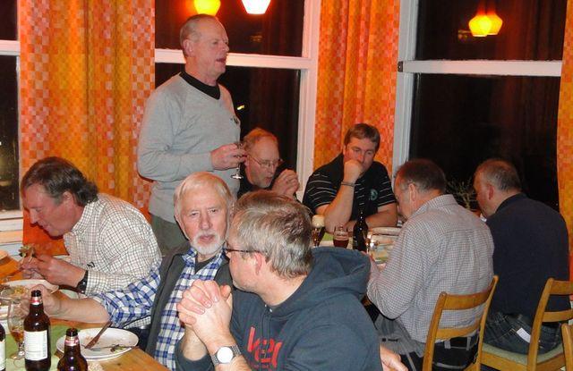 Jan Swartström, Ernst Bjureflo, Leif Aronsson, Jan-Erik Hellman stående, Mats Eriksson, Per Roos (Foto Rolf Pellving)
