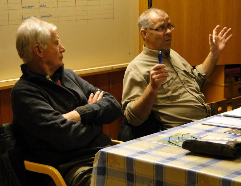 Lars O Törnkvist, fullmäktige och Bo Fredriksson,  kommissarie