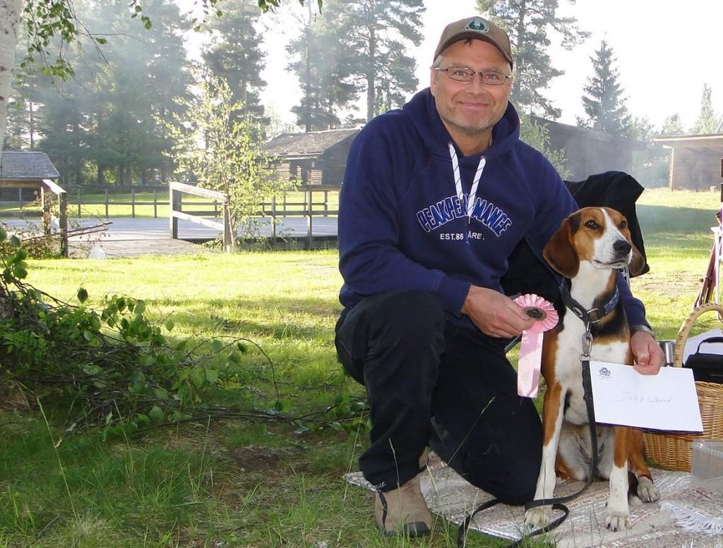 Leif Aronsson, en glad vinnare av jaktweekend skänkt av Enar Grubb