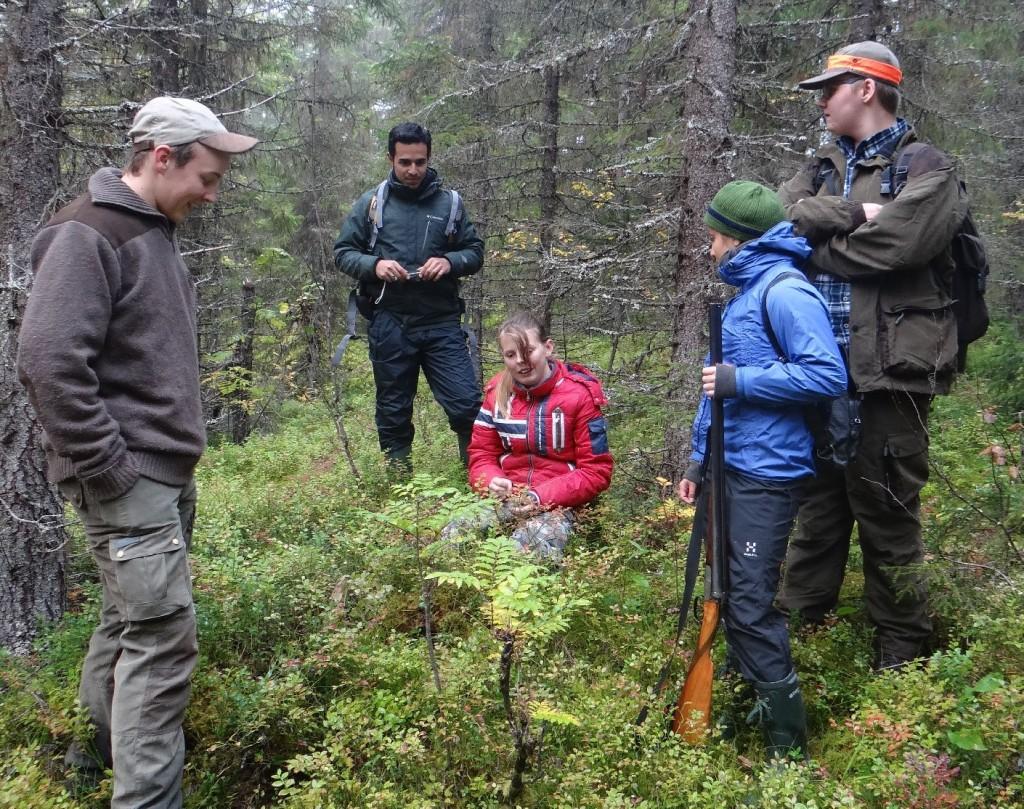 Rasmus Jonasson, Benjamin, volontär från Honduras, Sara Svensdottir, Kathi, volontär från Costa Rica, Erik Lidgren,