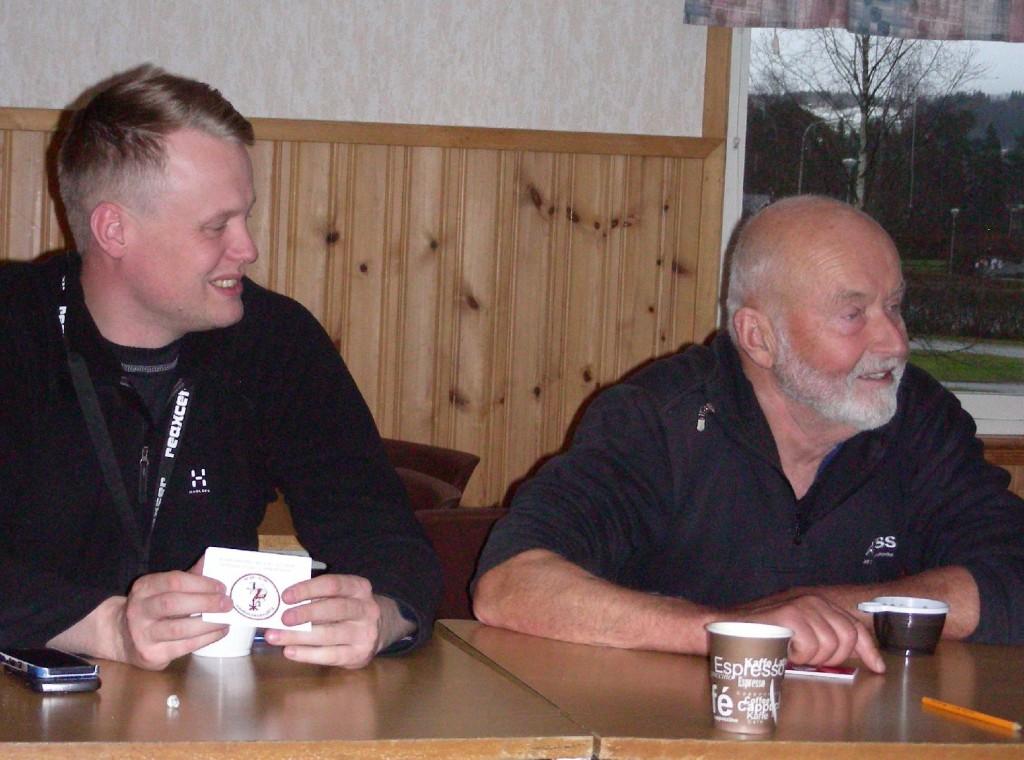 Elev Johan Hansson och Klas Törmark