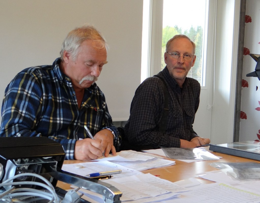 Kommissarie Curt Alstergren och Mats Eriksson