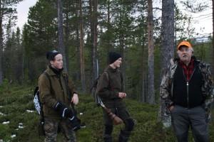 Oliver Nord, Anton Öst och Curt Alstergren väntar på upptag