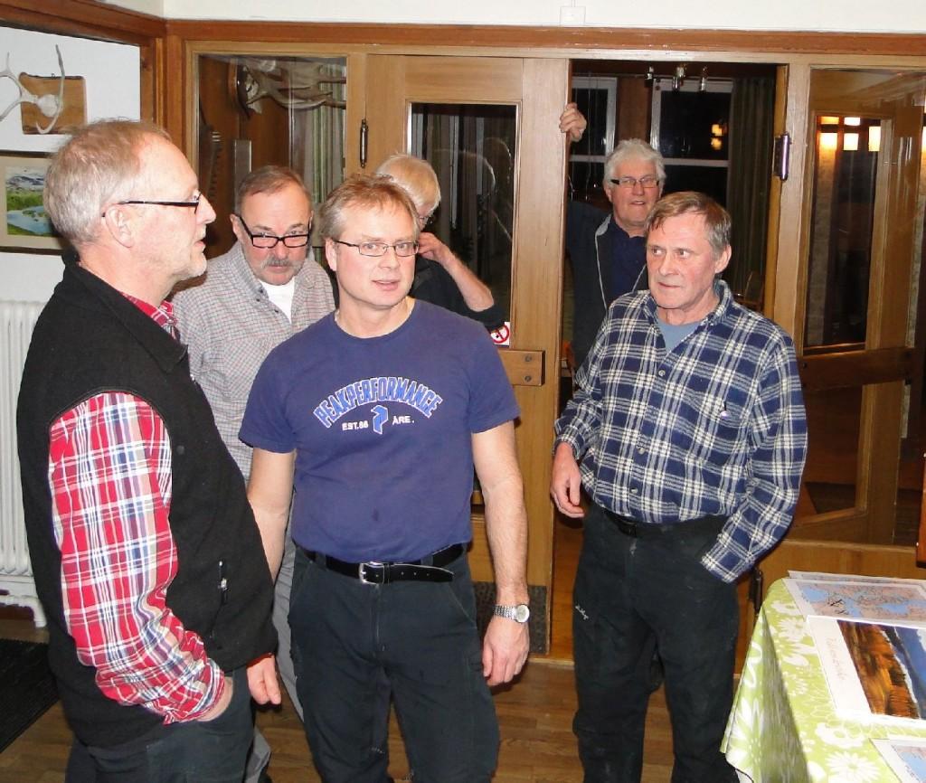 Mats Eriksson, Ivan Myhr, Leif Aronsson, Ulf Hagen och Rasmus Olsson