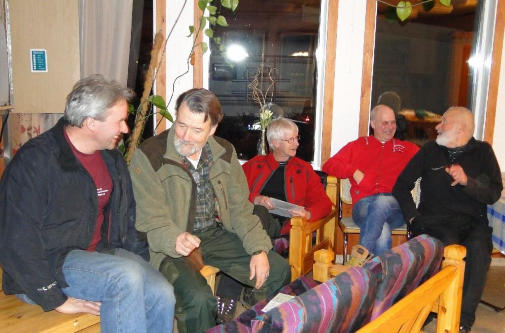 Arne Olofsson, Krister Olsson, Göran Blixt, Sven-Olof Nilsson och Klas Törmark