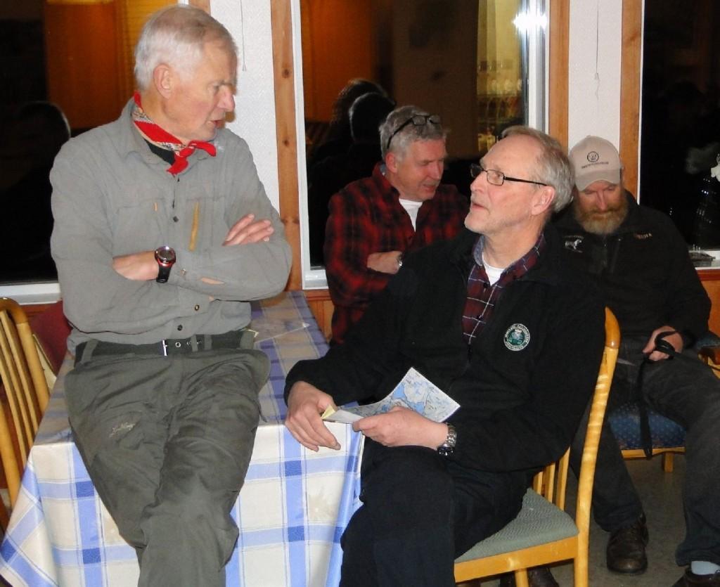 Lars O Törnkvist och Mats Eriksson, i bakgrunden Jan-Erik Eriksson och Hans Christian Pedersen