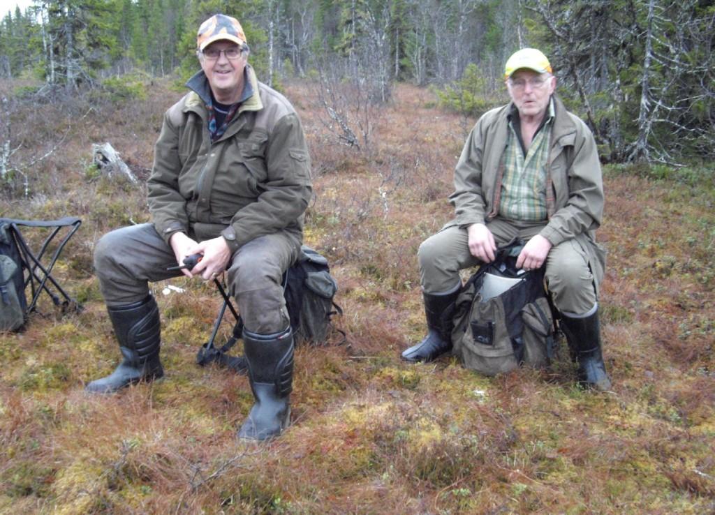 Sven-Gunnar Jansson och Hans Gustavsson i väntan på upptag
