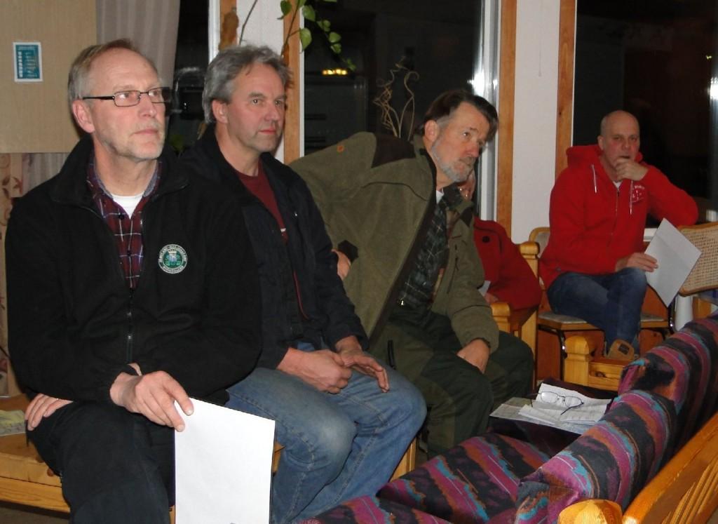 Mats Eriksson, Arne Olofsson, Krister Olsson och Sven-Olof Nilsson