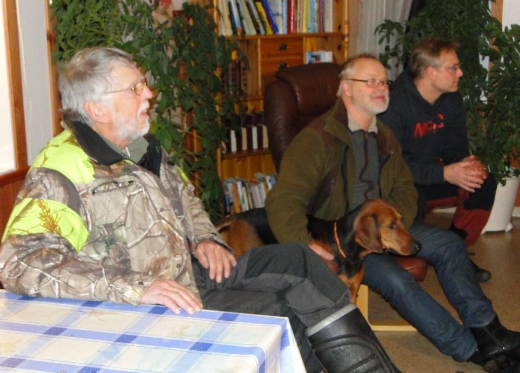 Rune Jönsson, Anders Ströby med sch. Törmarkens Maja-10 och Leif Aronsson