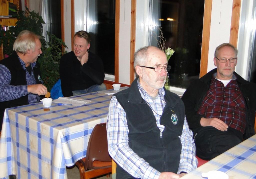 Curt Alstergren, Johan Hansson, Dennis Sjöö och Mats Eriksson