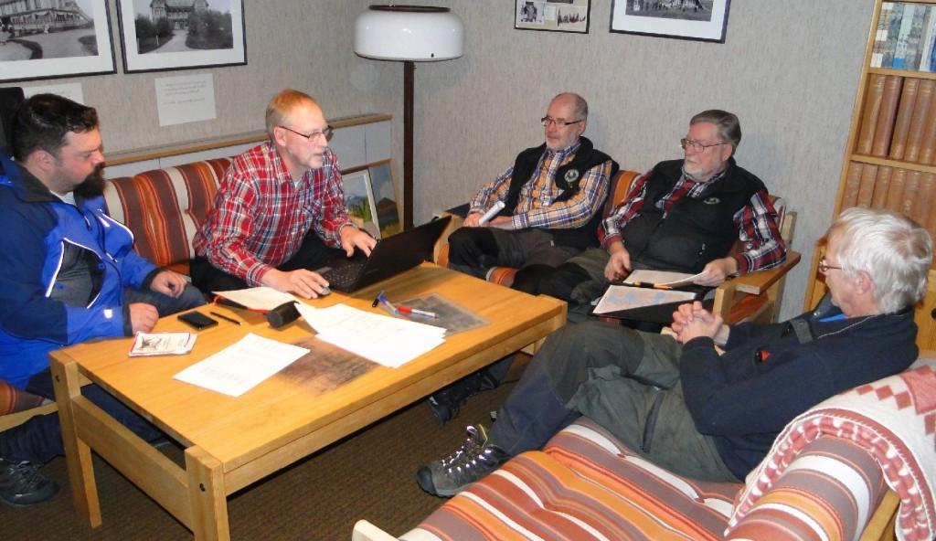Fredrik Nordin, Mats Eriksson, Dennis Sjöö, Carl-Gunnar Hågnäs och Göran Blixt