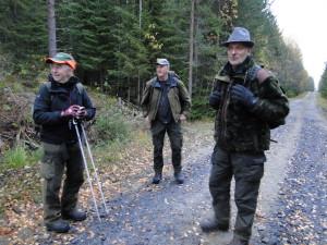 Vägvisare Åke Holmstrand, domare Lars Ivar Sandin och Martin Magnusson