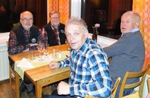 Dennis Sjöö, C-G Hågnäs, Jörgen Widegren och Lars O Törnkvist