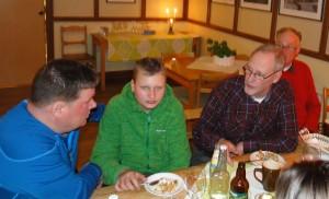 Esa och Carl-Filip Kölegård, Mats Eriksson och Per Svarva