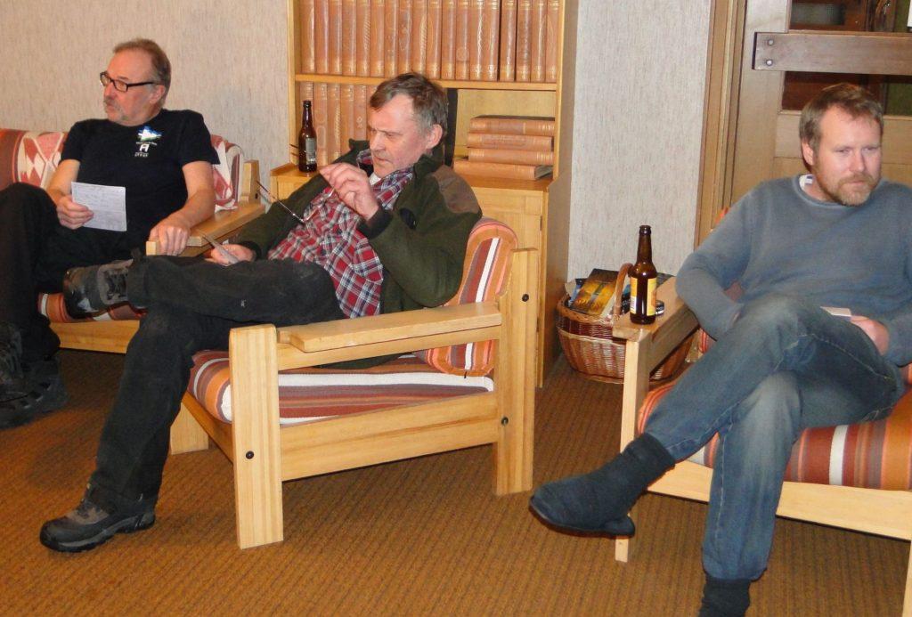 Ivan Myhr, Rasmus Olsson samt den nyblivne domaren Jimmie Guttormsson